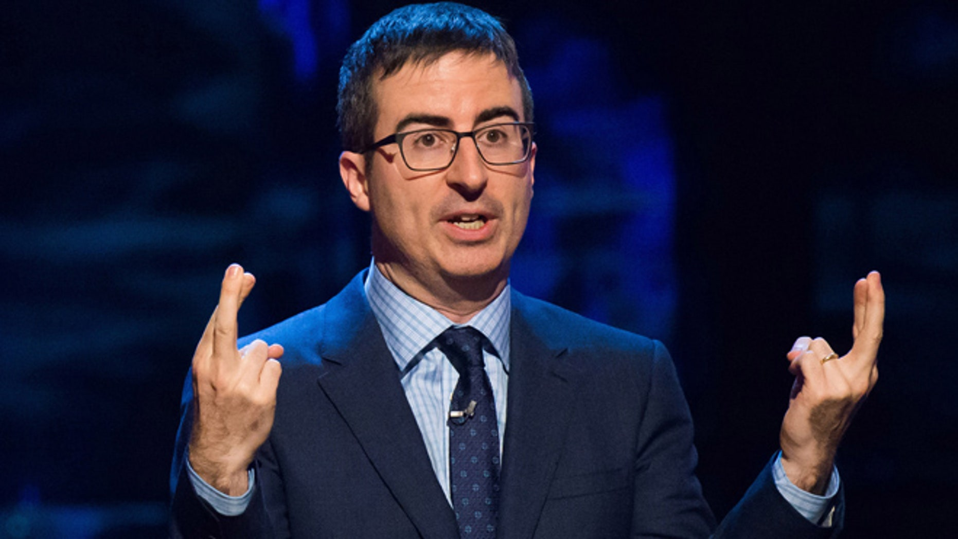 "Feb. 28, 2015: John Oliver speaks at Comedy Central's ""Night of Too Many Stars: America Comes Together for Autism Programs."""