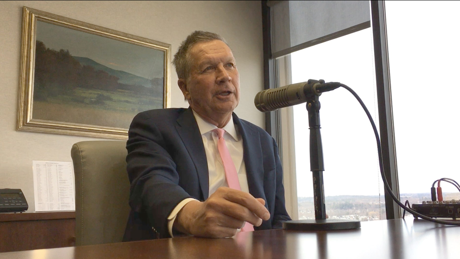 "Ohio Gov. John Kasich, when asked about a possible 2020 presidential run, answered: ""All my options are on the table."""