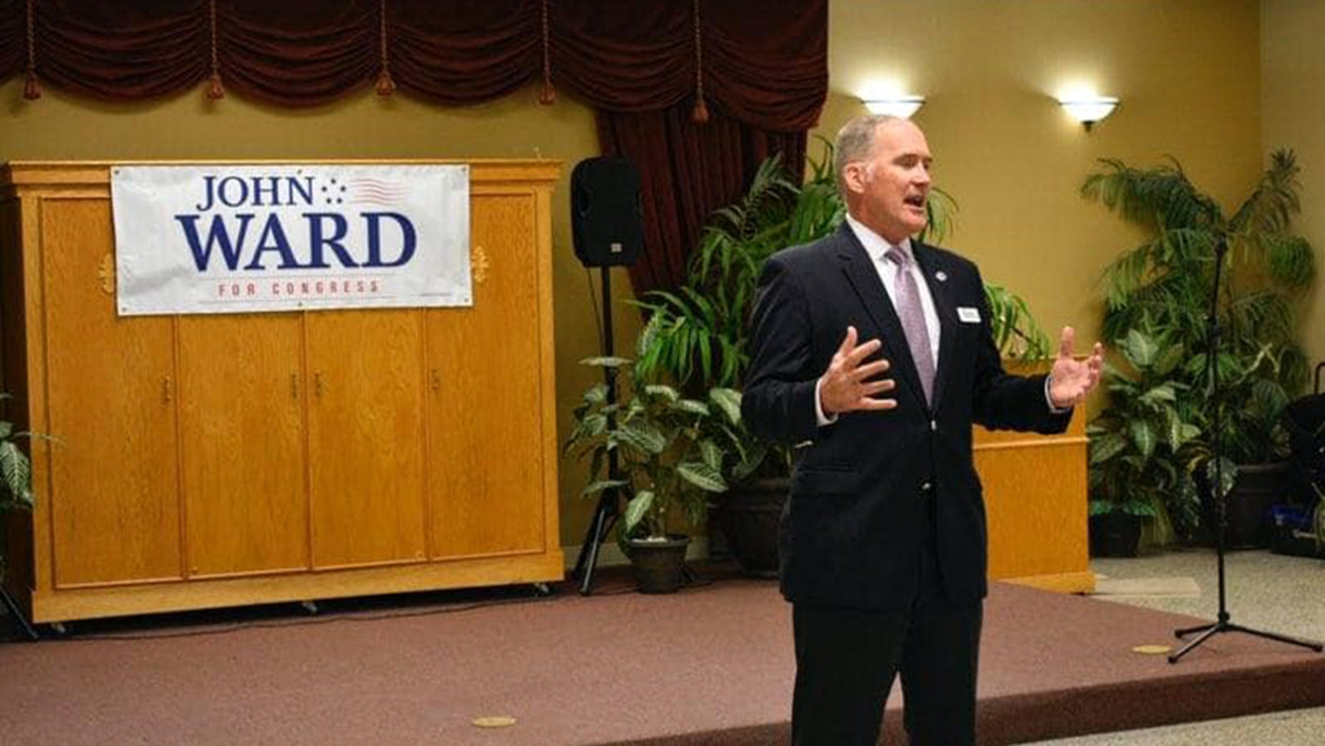 Congressional candidate John Ward is facing intense criticism, including from those in his party, after his opponent published a video of comments he made about displaced Puerto Ricans in the state.