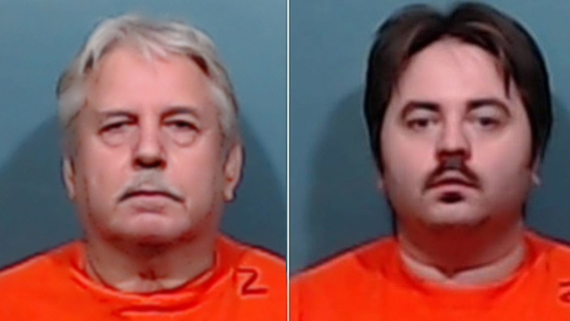 John Miller, left, and his son, Michael Miller, right, were charged with murder after their neighbor, Aaron Howard, was fatally shot on Sept. 1.