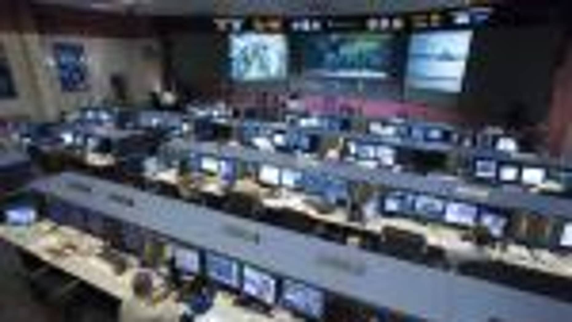 Flight Control Room 1 at Johnson Space Center in Houston, TX (AP file photo)