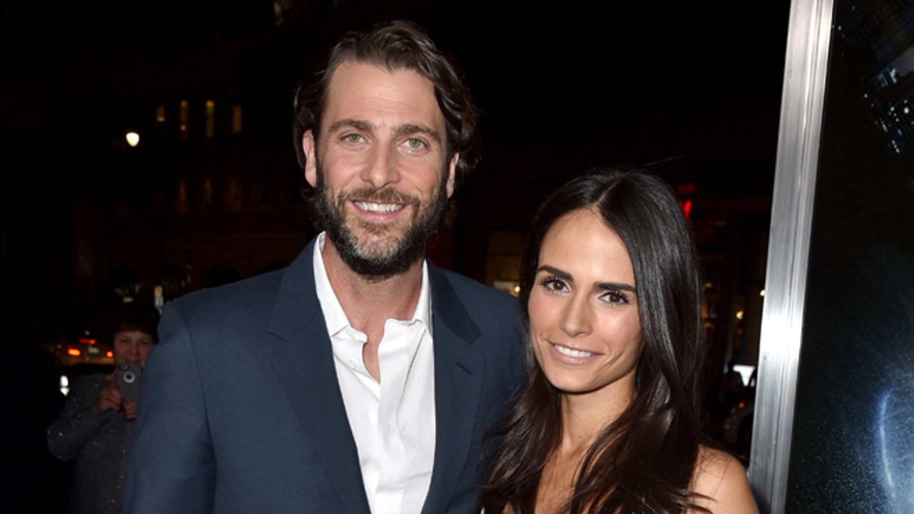 """HOLLYWOOD, CA - JANUARY 27:  Producer Andrew Form (L) and actress Jordana Brewster attend the premiere of Paramount Pictures' """"Project Almanac"""" at TCL Chinese Theatre on January 27, 2015 in Hollywood, California.  (Photo by Kevin Winter/Getty Images for Paramount Pictures International)"""