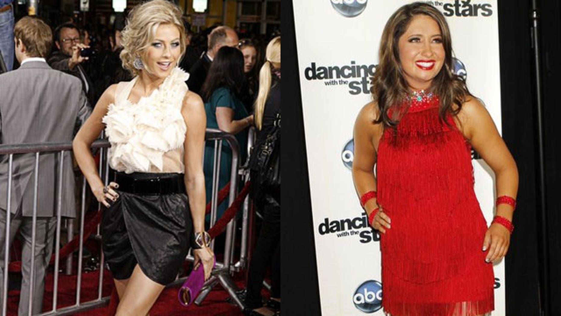 """""""DWTS"""" veteran Julianne Hough (left) doesn't think Bristol will take home the trophy this season."""