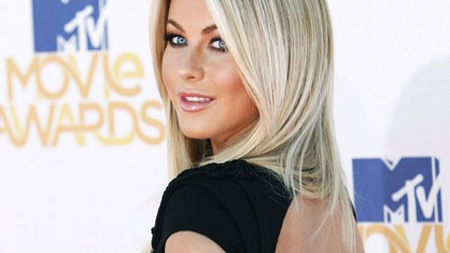 June 6: Singer and dancer Julianne Hough arrives at the 2010 MTV Movie Awards in Los Angeles. (Reuters)