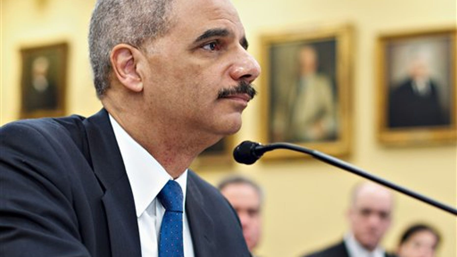 Feb. 28: Attorney General Eric Holder testifies on Capitol Hill in Washington before a House Appropriations subcommittee hearing.