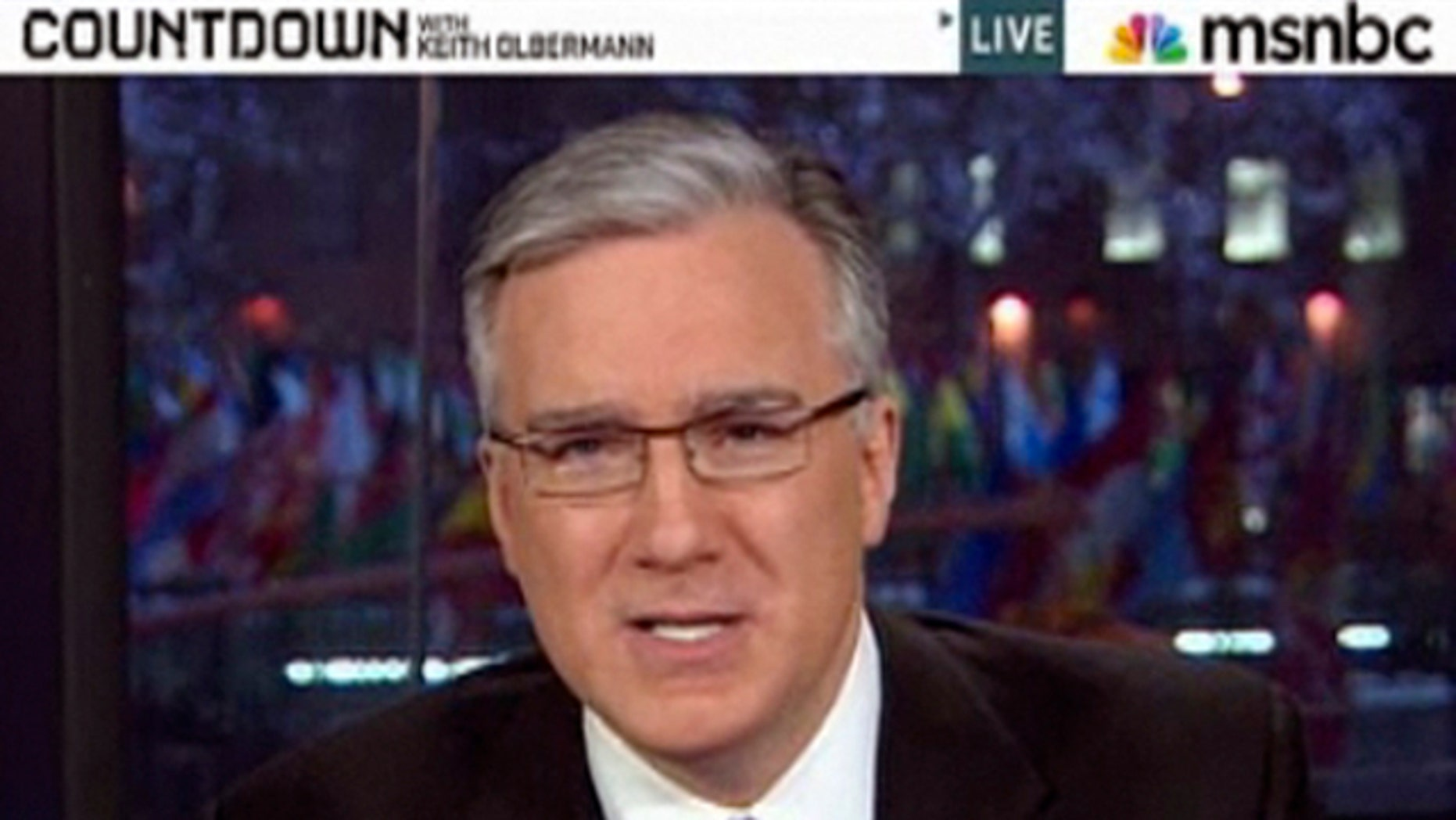 """Jan. 21, 2011: Keith Olbermann on """"Countdown"""" moments before he told viewers it was his last broadcast"""