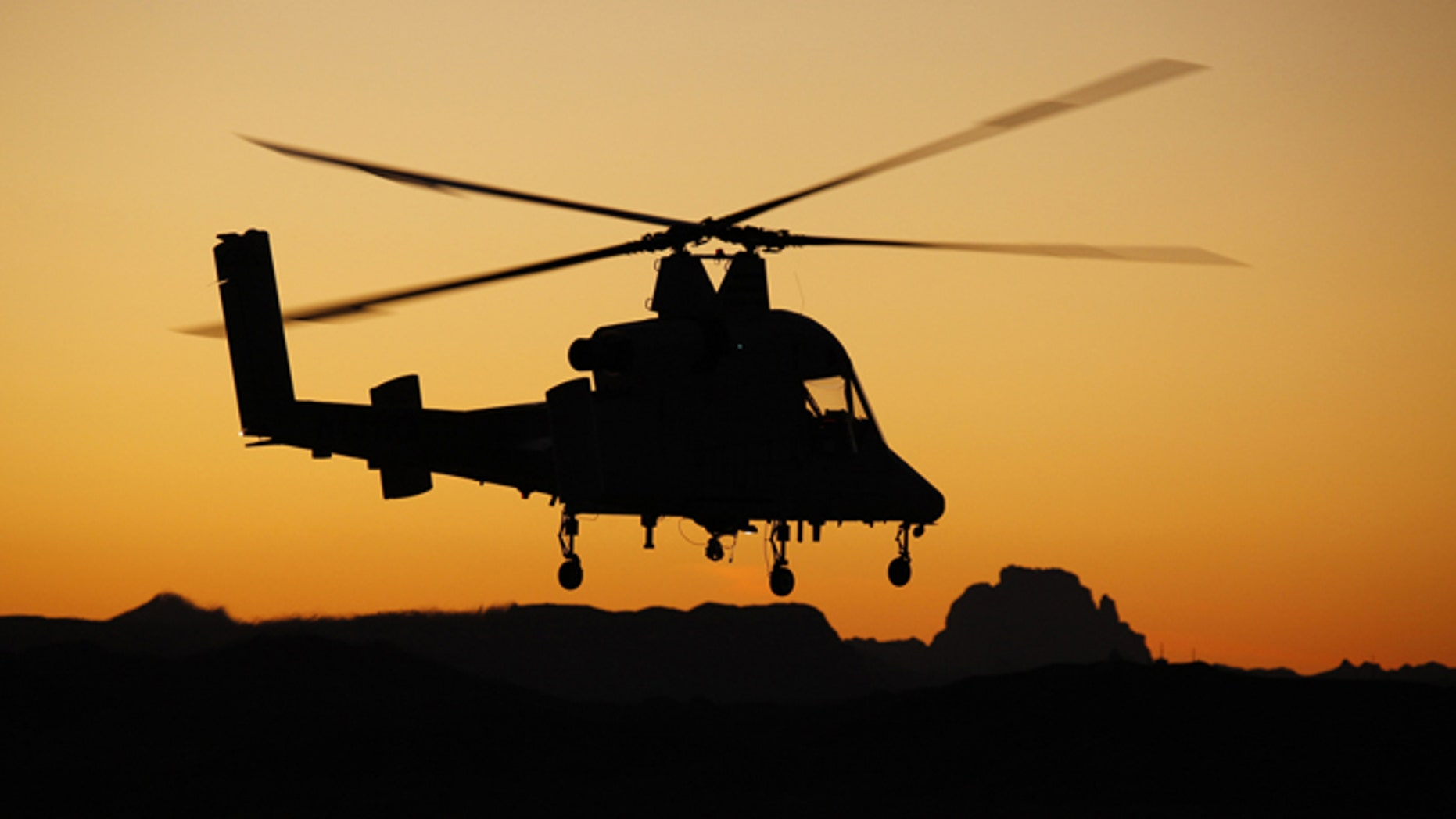 An unmanned K-MAX helicopter that is being used to deliver cargo and resupply troops in combat zones.