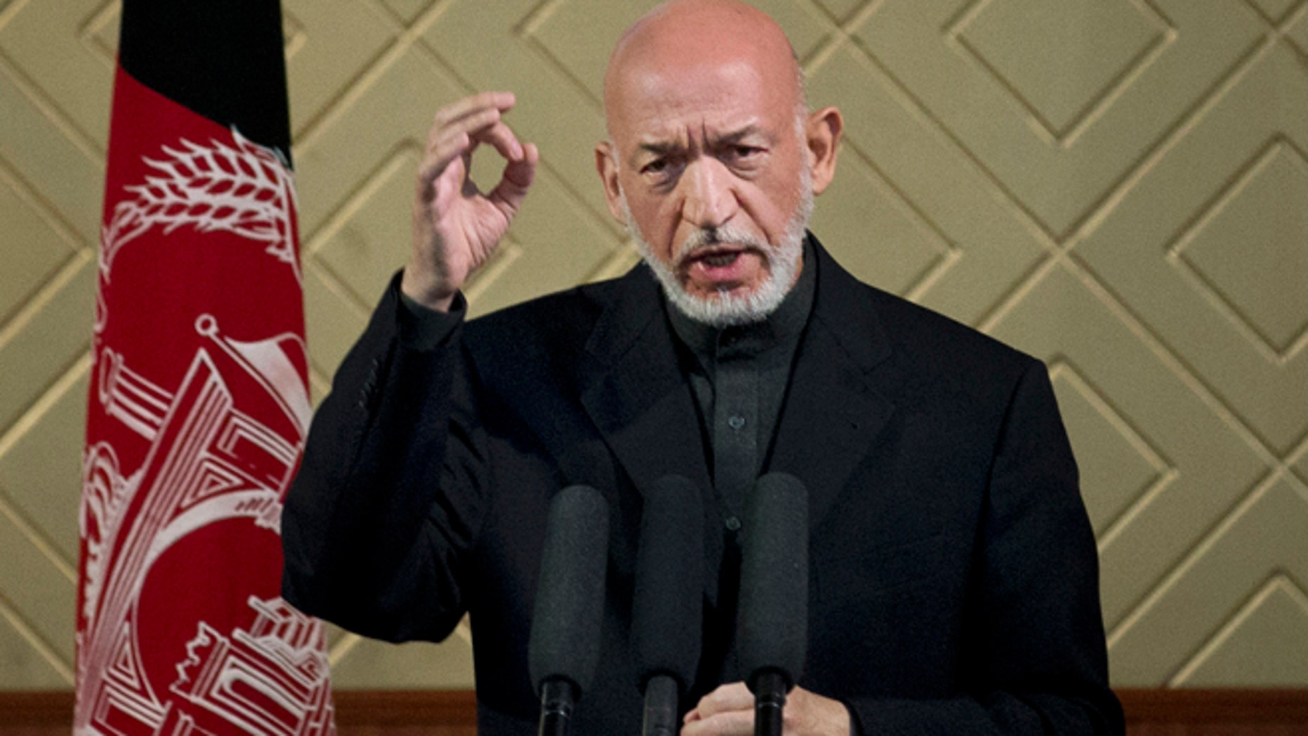 May 9: Afghan President Hamid Karzai says he's ready to let US maintain nine bases in country at a ceremony at Kabul University.
