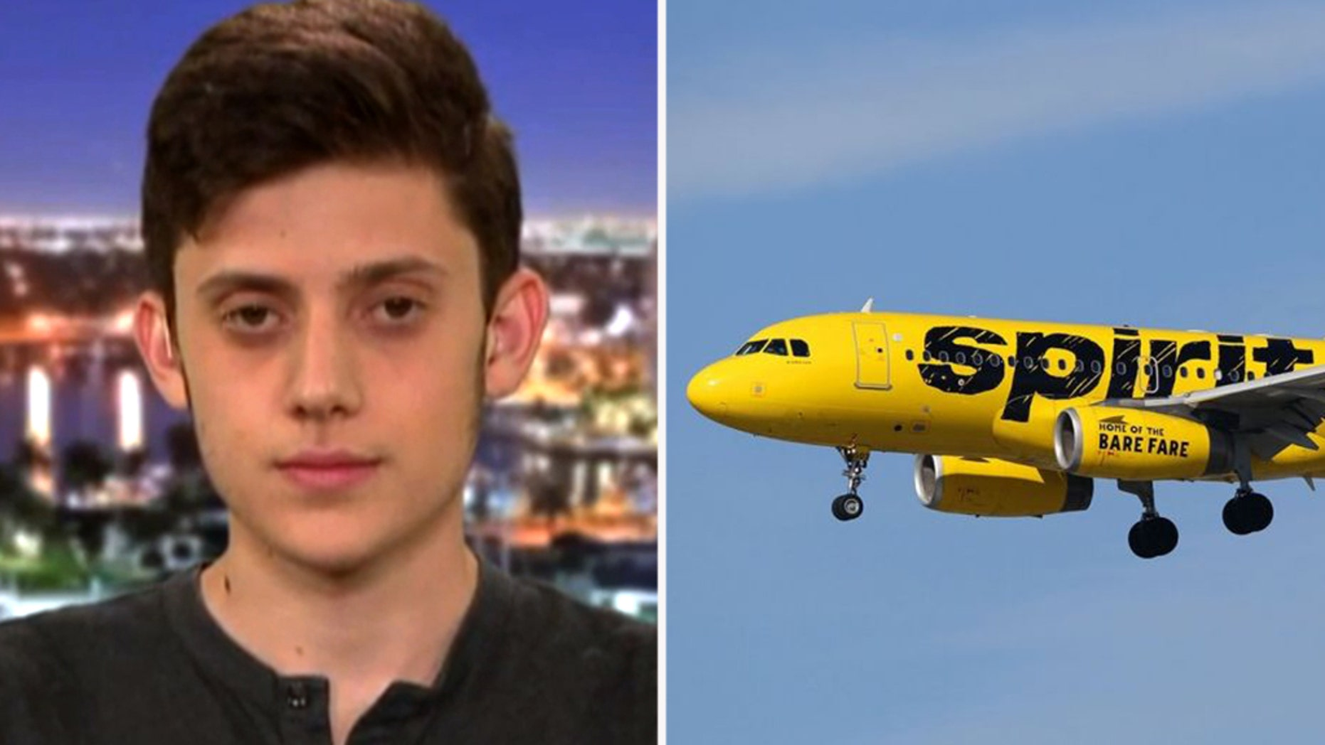 The high school junior shared his frustration over the in-flight incident on Twitter.