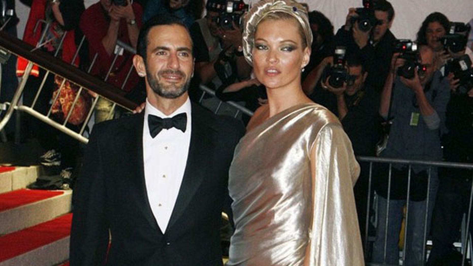 Designer Marc Jacobs and super model Kate Moss.
