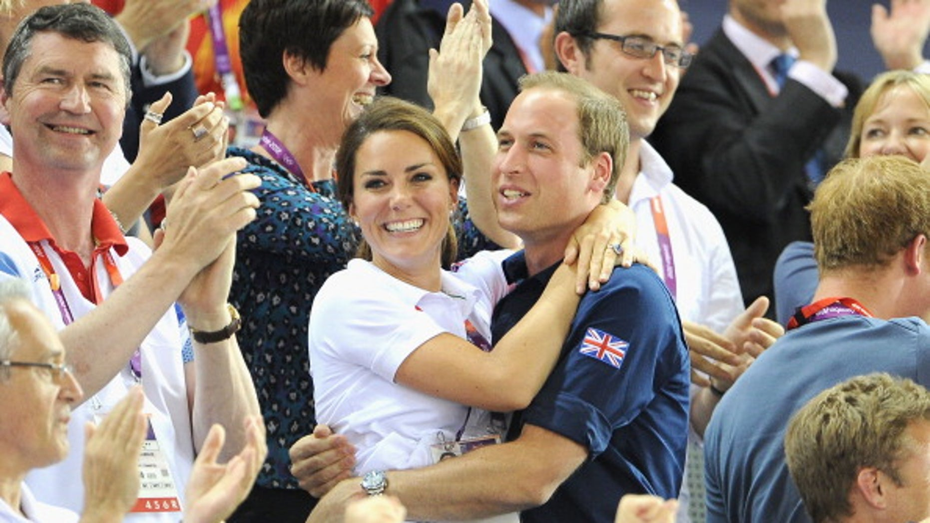 Catherine, Duchess of Cambridge and Prince William, Duke of Cambridge during Day 6 of the London 2012 Olympic Games.