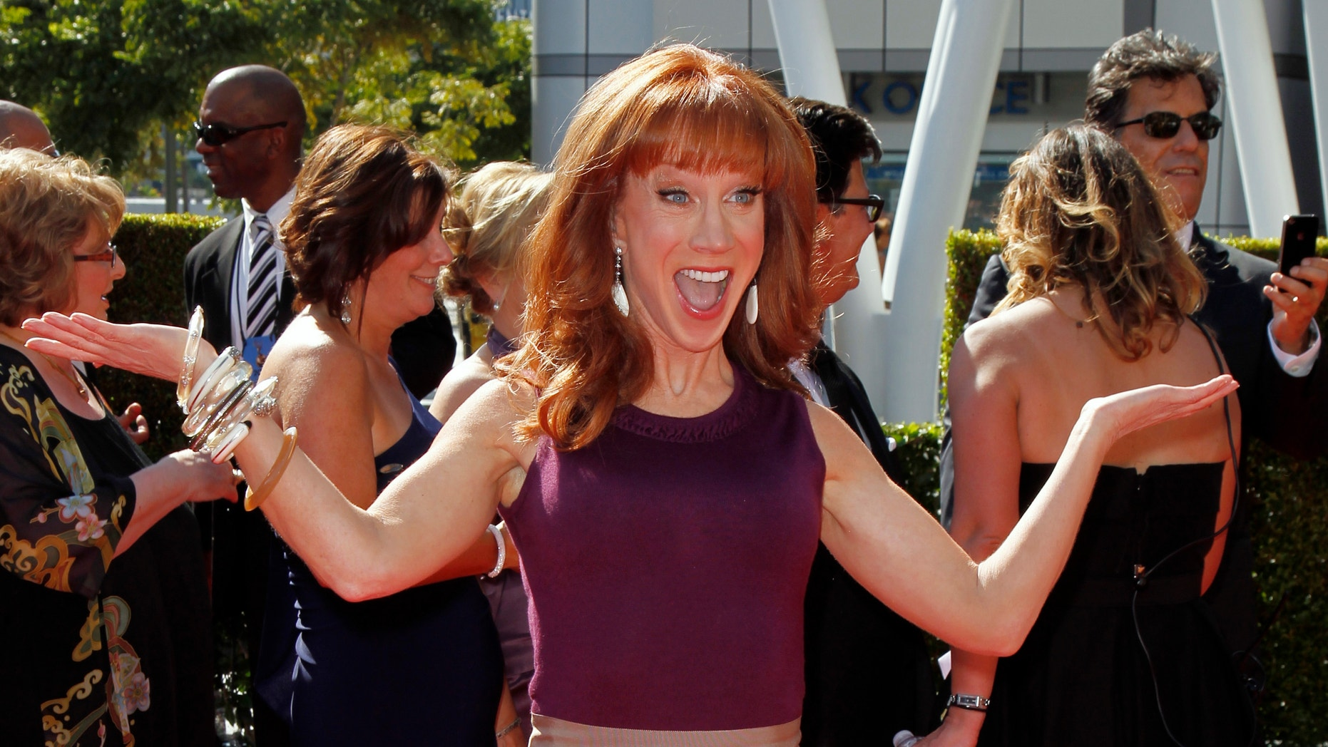 Comedian Kathy Griffin arrives at the 2012 Primetime Creative Arts Emmy Awards in Los Angeles September 15, 2012.