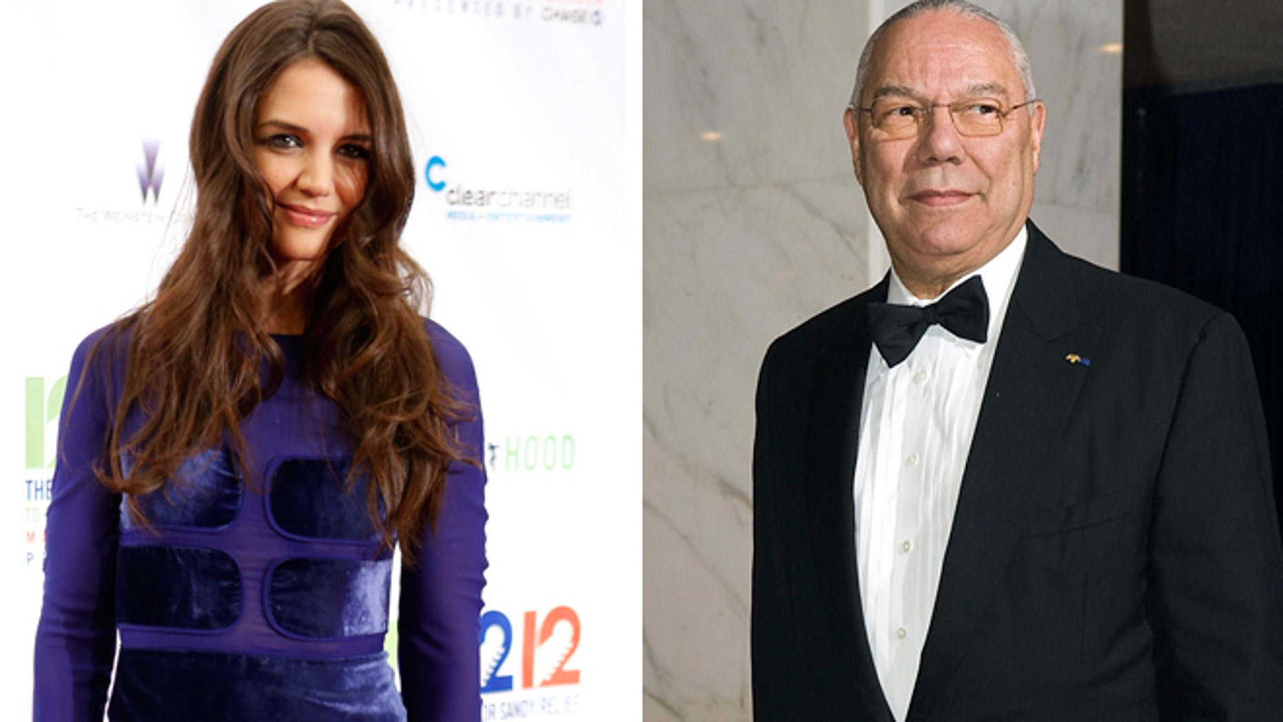 Katie Holmes, left, was reportedly spotted spending time with Colin Powell.
