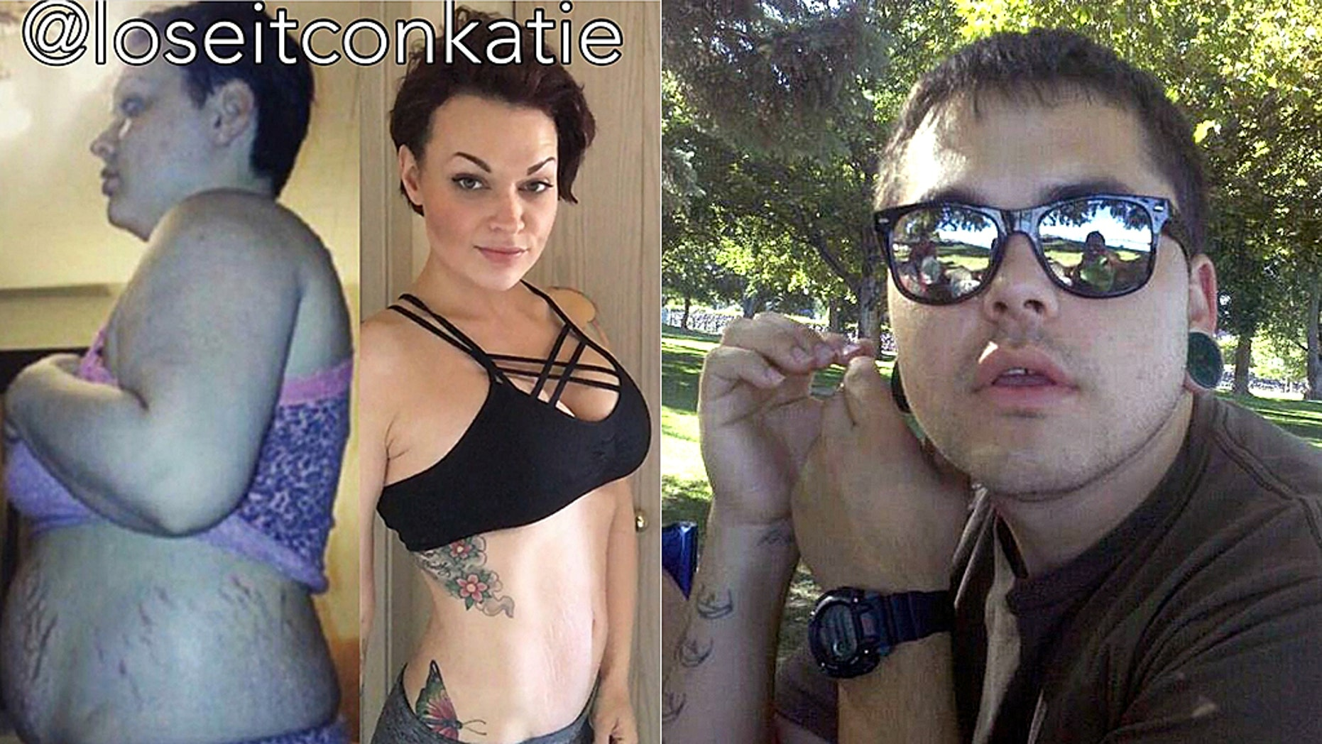 Katie Summers, left, who became a fitness coach and model after losing 98 pounds in a year, was arrested on suspicion of hitting and killing moped rider Leonel Birrueta.