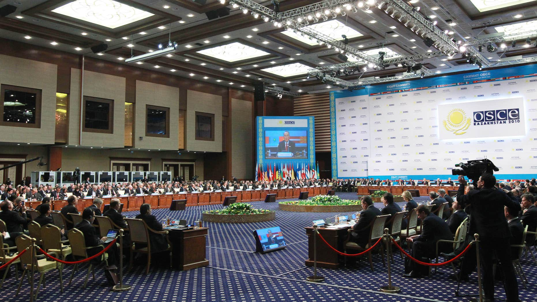 Dec. 1: General view of the OSCE (Organization for Security and Cooperation in Europe) meeting on in Astana, Kazakhstan.