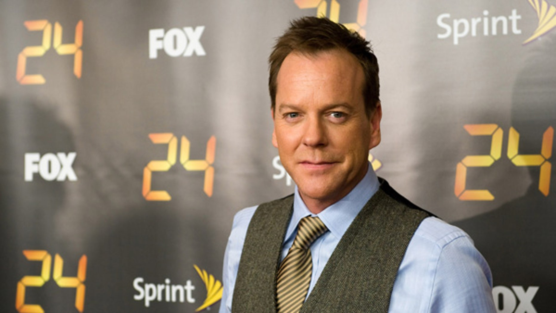"""Kiefer Sutherland attends the premiere screening for season eight of the television drama """"24"""" in New York, Thursday, Jan. 14, 2010. (AP Photo/Charles Sykes)"""