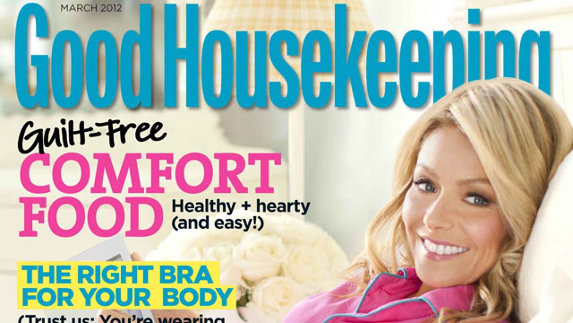 Kelly Ripa on the March cover of Good Housekeeping.