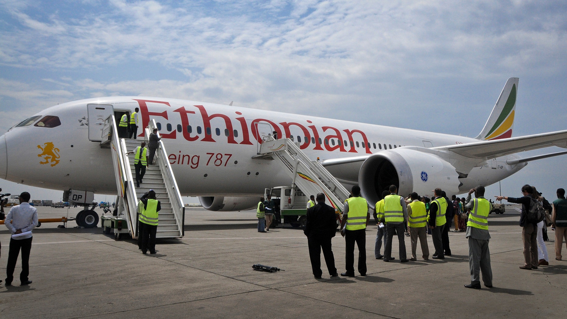 April 27, 2013: An Ethiopian Airlines' Boeing 787 Dreamliner prepares to take off from Addis Ababa airport in Ethiopia.