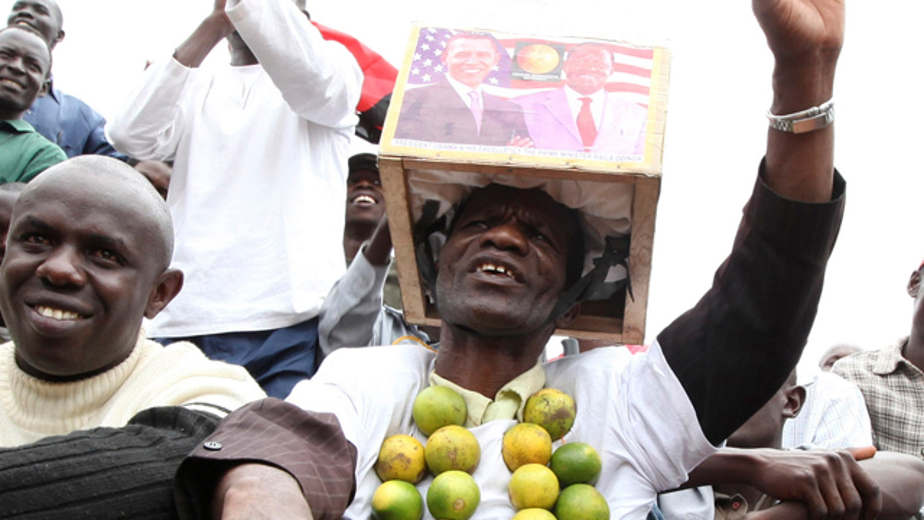 May 15, 2010: Kenyan supporters cheer at a rally in capital Nairobi to launch campaigns for the constitution referendum.