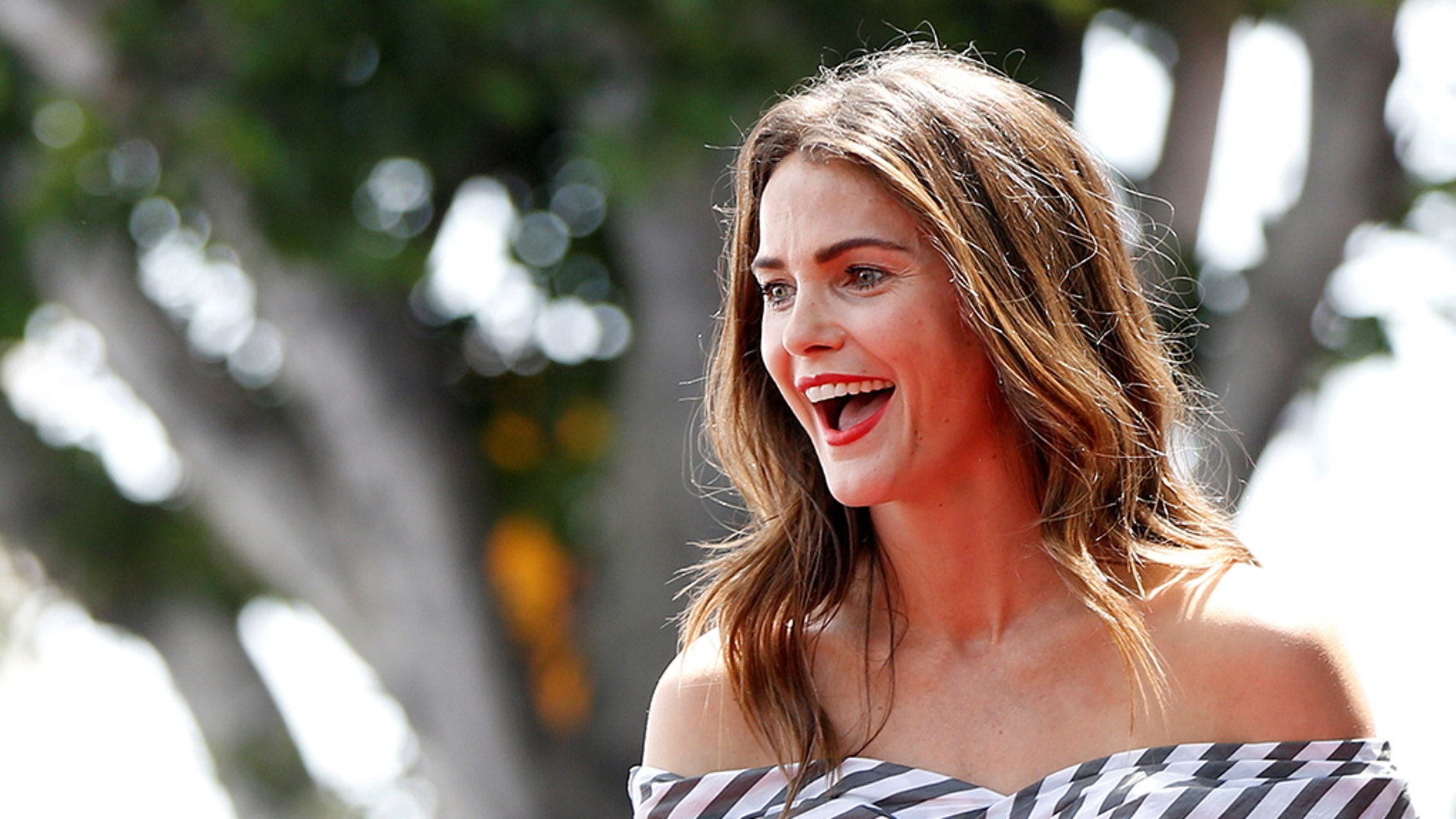 Keri Russell is seen before the unveiling of her star on the Hollywood Walk of Fame, in Los Angeles, May 30, 2017.