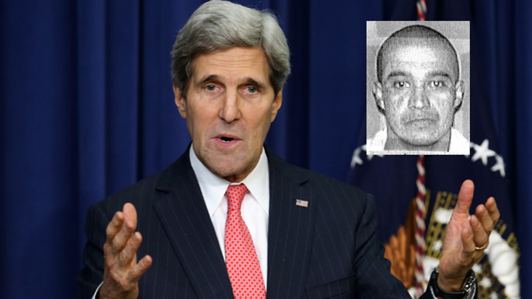 A photo composite of U.S. Secretary of State John Kerry and convicted killer Edgar Arias Tamayo. (Getty Images/Texas Department of Corrections)