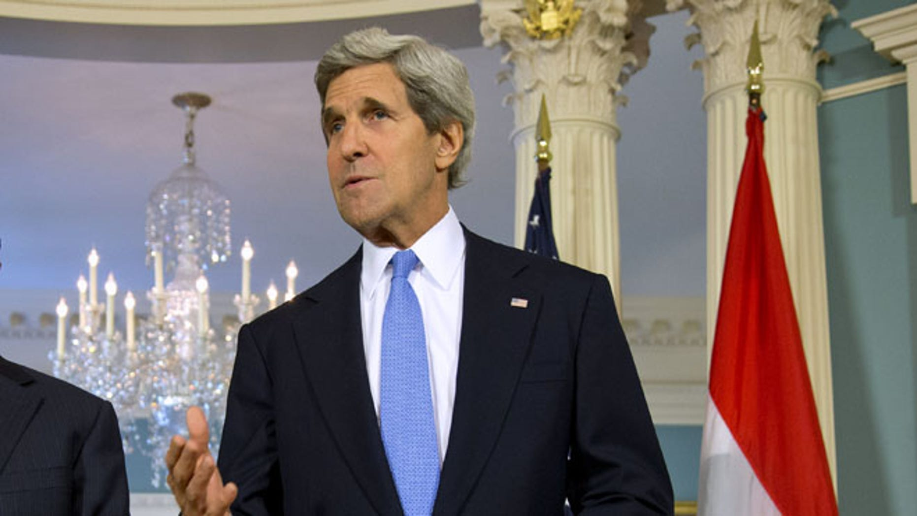 FILE: July 29, 2013: Secretary of State John Kerry at the State Department in Washington, D.C.