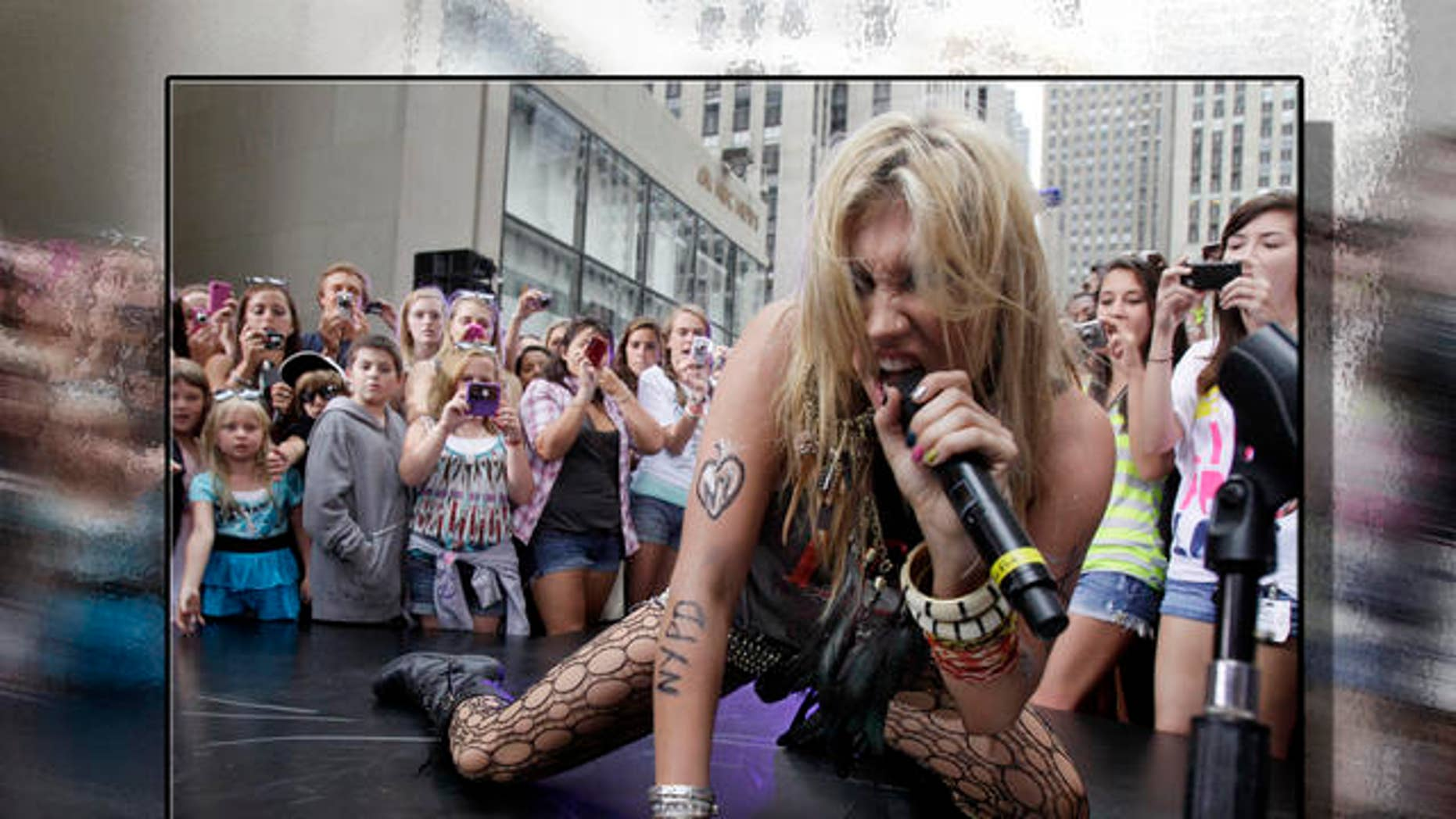 Aug 2010: Ke$ha performs. (AP)