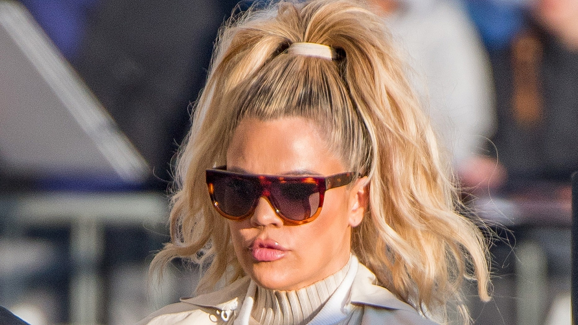 "Khloe Kardashian said her lips looked bigger during the new season of ""Keeping Up with the Kardashians"" because of her pregnancy."