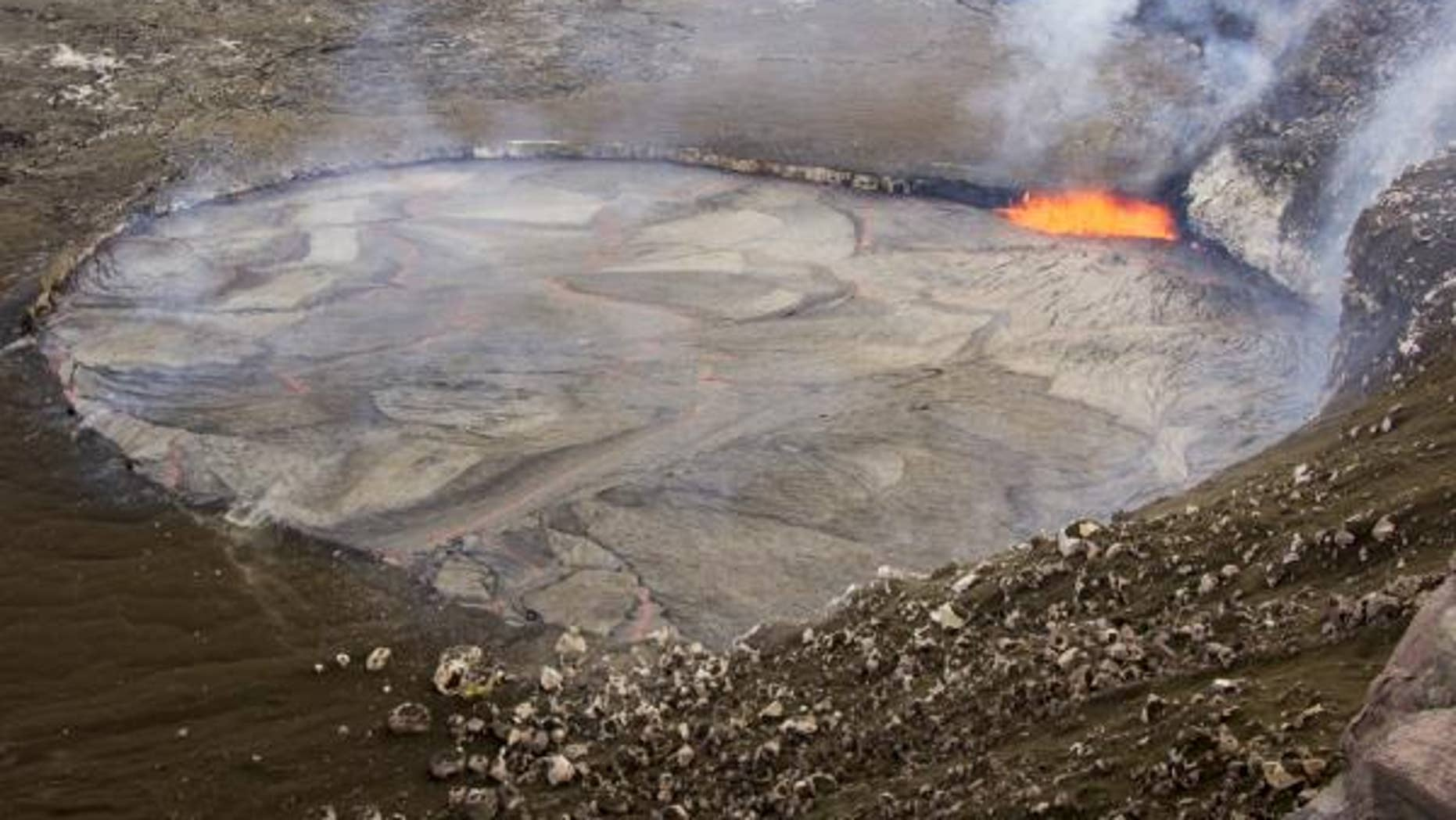 The lava lake photographed on Sunday April 26.