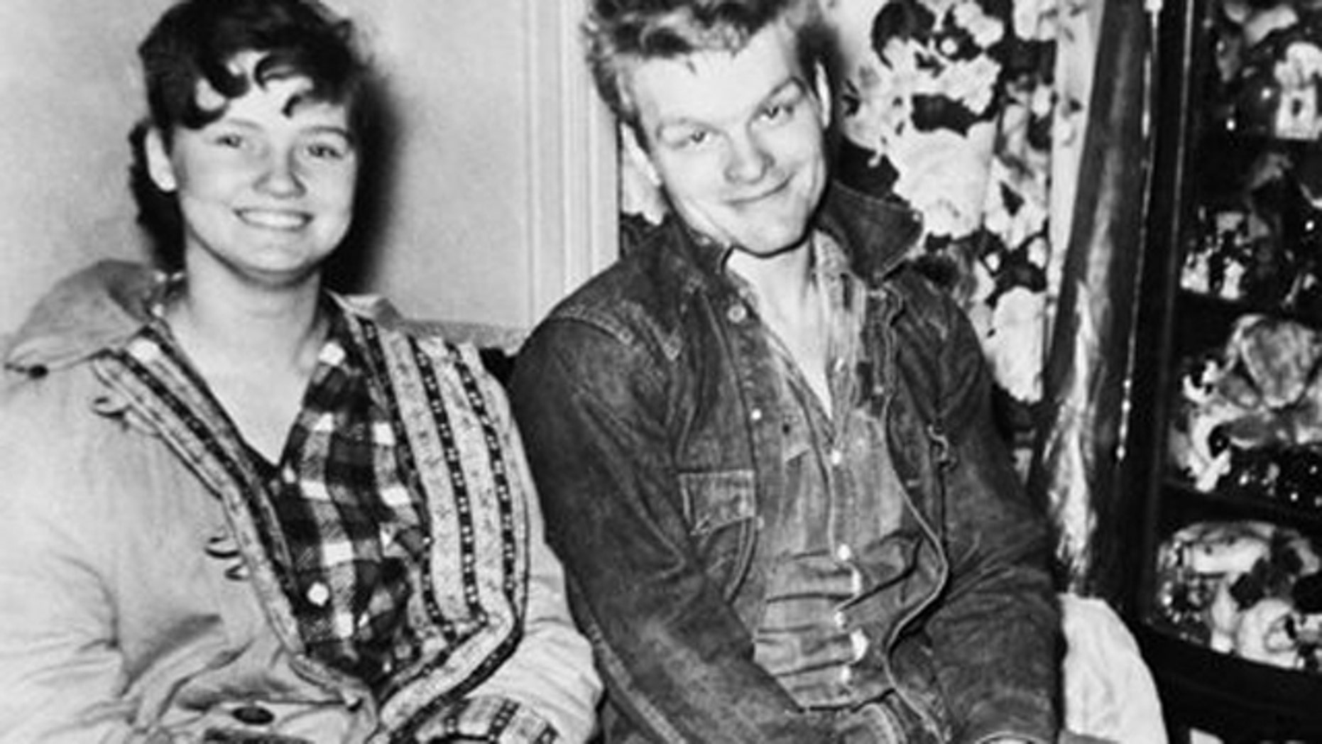 FILE - Charles Starkweather and Caril Fugate are shown in a photo released by police in 1958 when the teenagers were wanted for questioning in a killing spree that eventually claimed 11 lives in Nebraska and Wyoming.