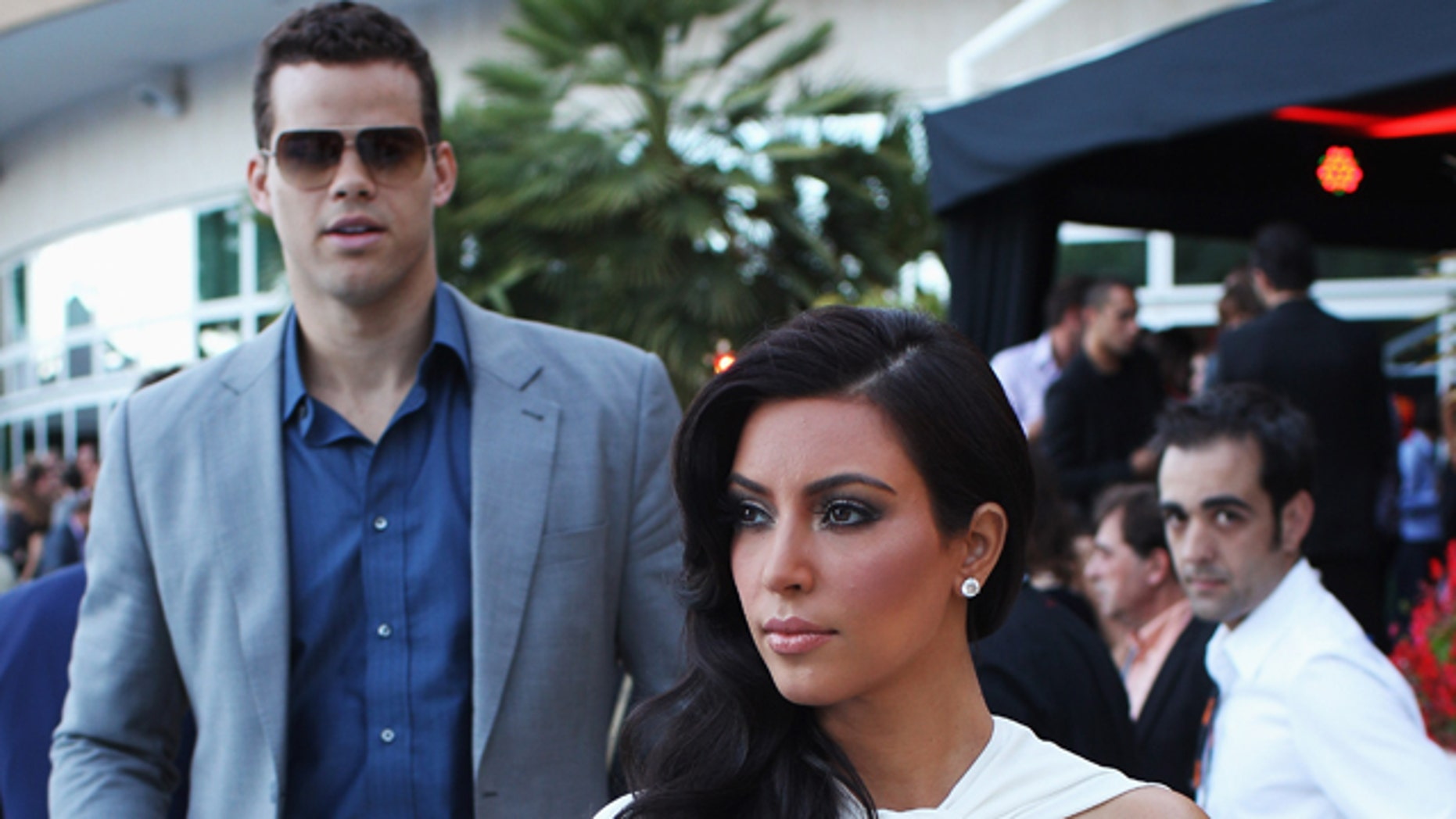 May 27, 2011: Kim Kardashian and Kris Humphries attend the Amber Fashion Show held at the Meridien Beach Plaza in Monte Carlo, Monaco.