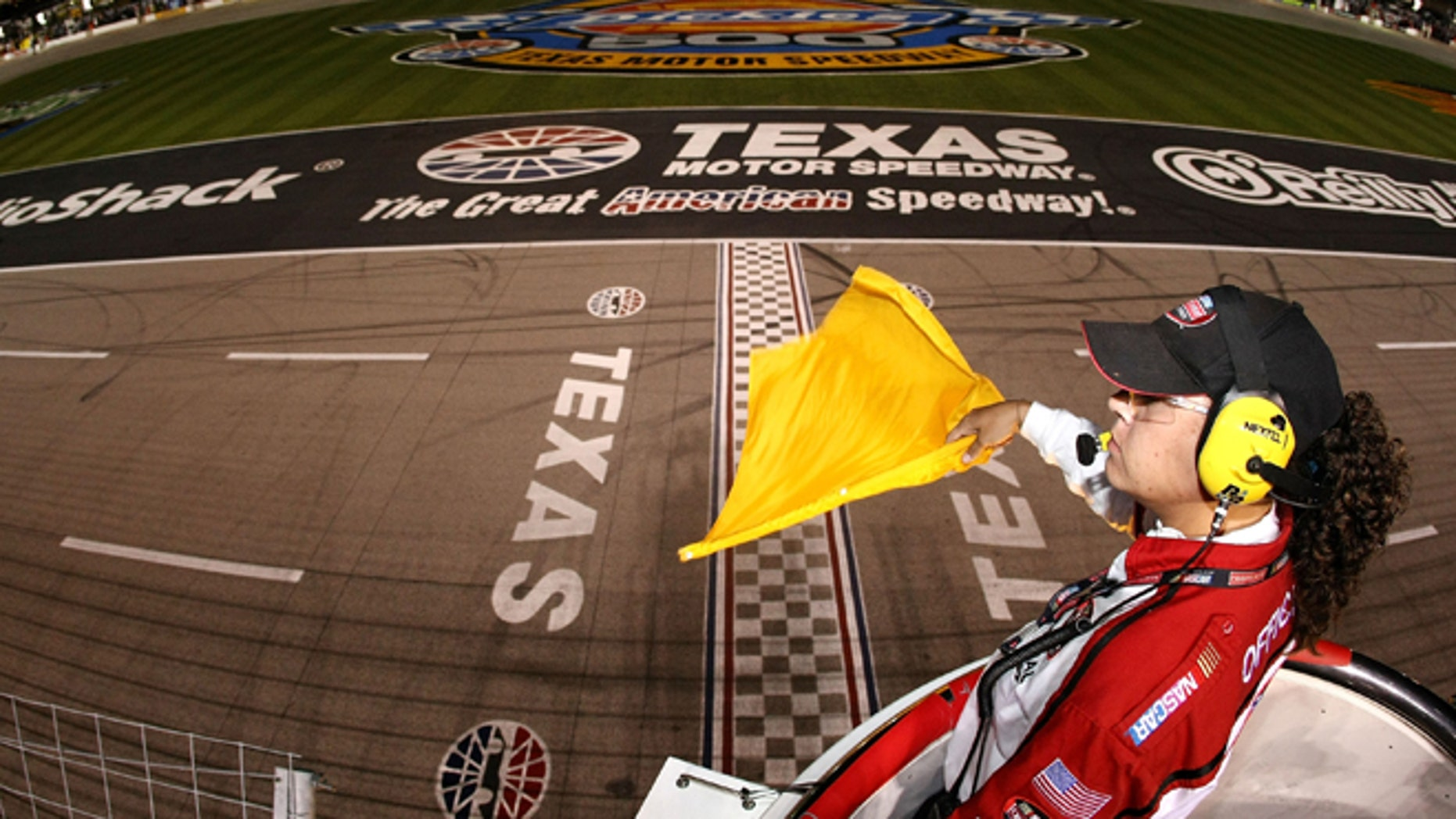 Kim Lopez in a 2007 file photo at Texas Motor Speedway.