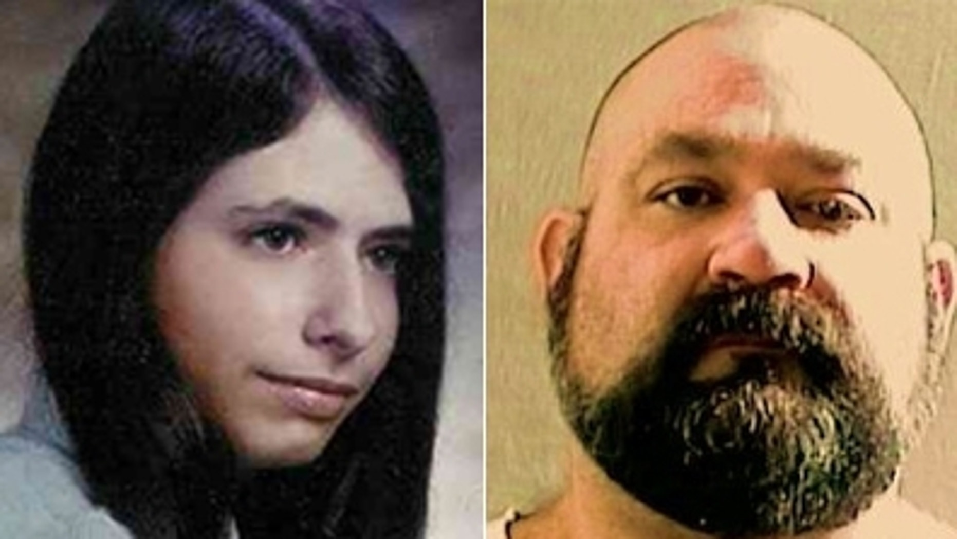 Kim Montelaro, pictured in her Immaculate Heart Academy high school yearbook photo, was raped and murdered in Bergen County, N.J., in 1976. Her killer, Christopher Righetti, right, is serving a life sentence, but will make his sixth appearance before a state parole board next month.