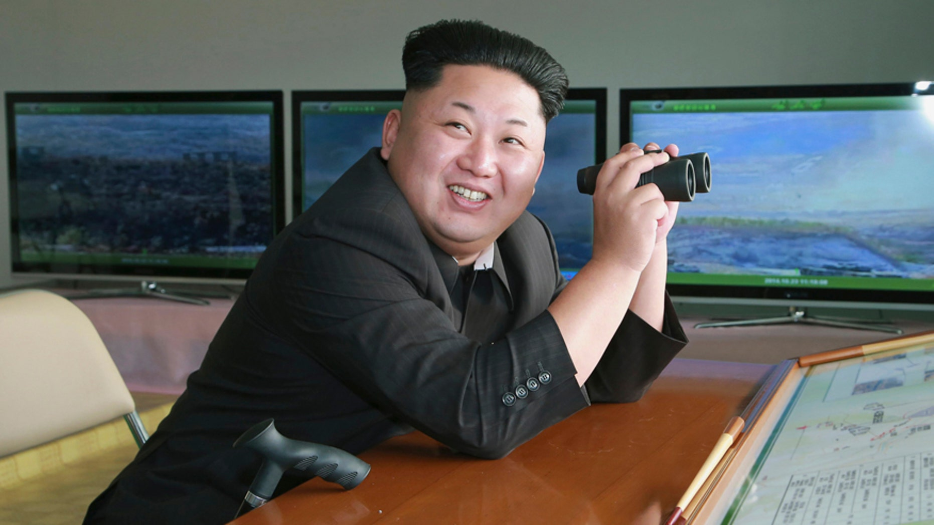 File photo - North Korean leader Kim Jong Un attends a military drill at an undisclosed location in this undated photo released by North Korea's Korean Central News Agency (KCNA) in Pyongyang Oct. 24, 2014.