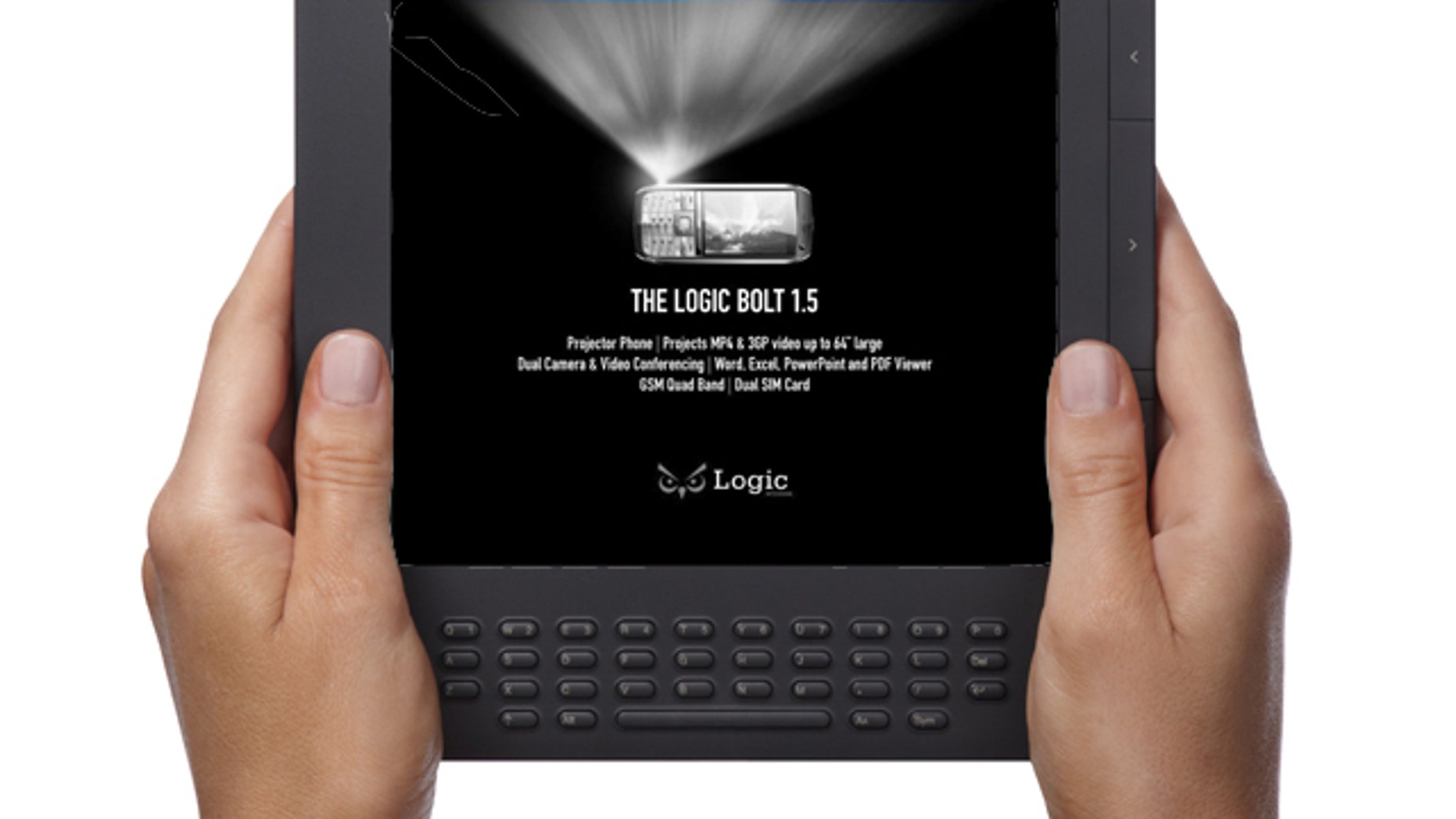 An illustration of an Amazon Kindle DX 2 e-book reader displaying a book -- but first, a message from the sponsor. One company believes advertisements are the way to wring profits out of the electronic book market.