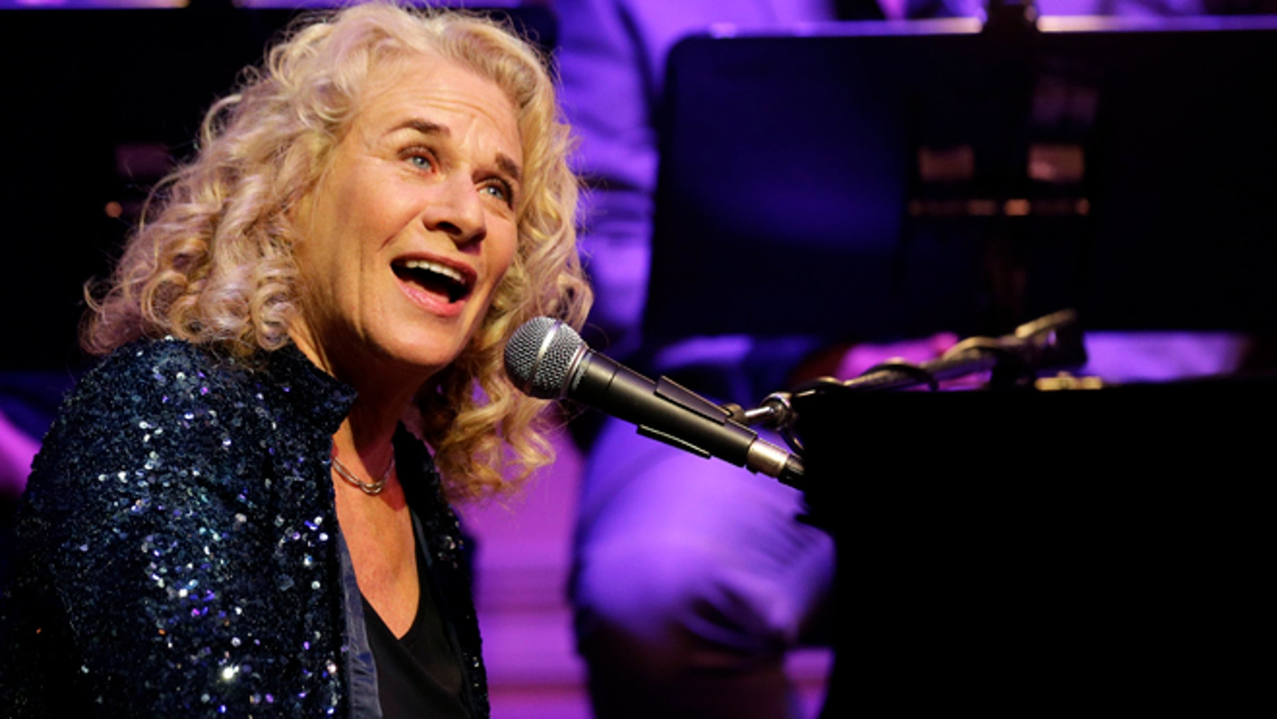 May 21, 2013: Singer-songwriter Carole King, performs during an event to honor her with the Gershwin Prize for Popular Song, at the Library of Congress.
