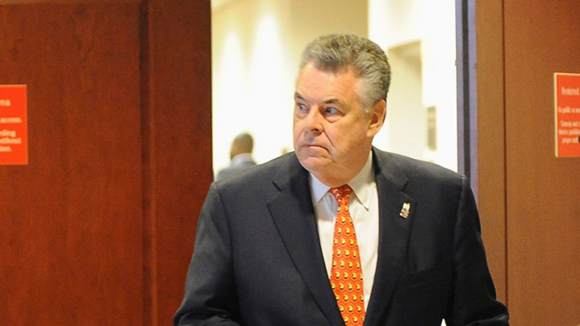 FILE: Nov. 16, 2012: Rep. Peter King, R-N.Y., on Capitol Hill, in Washington, D.C.