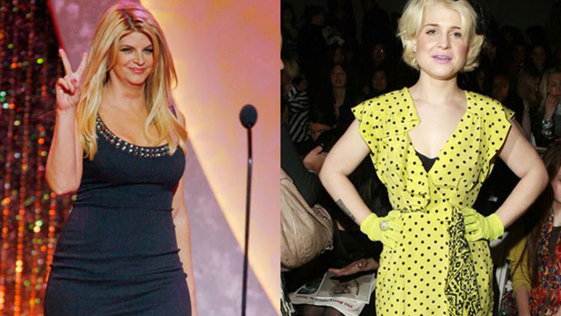 Kirstie Alley and Kelly Osbourne have both been famous for weight loss struggles. (Reuters/AP)