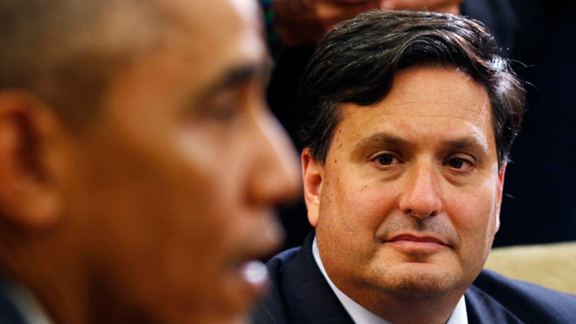 FILE: Oct. 22, 2014: President Obama and Ebola Response Coordinator Ron Klain.