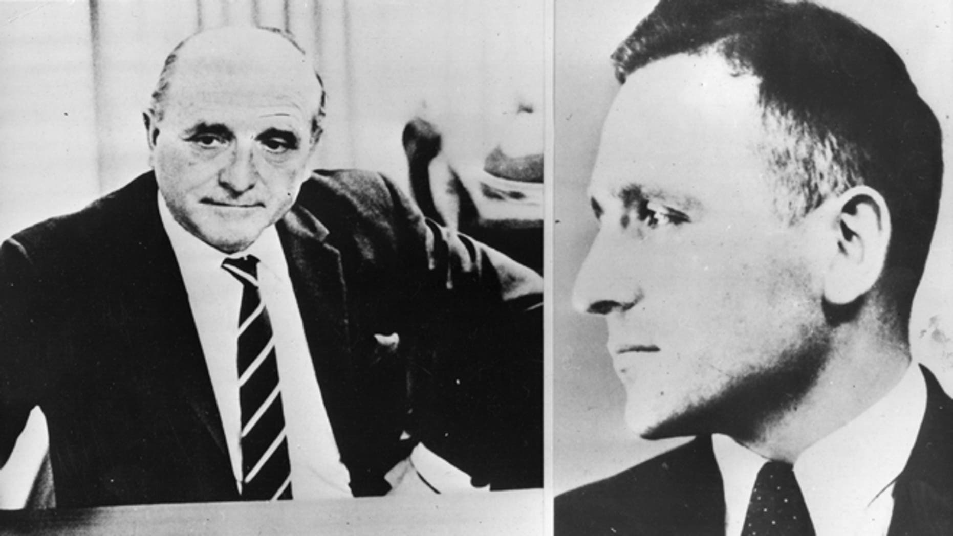 """Klaus Barbie, a Gestapo officer known to history by the more brutal moniker """"the Butcher of Lyon,"""" fled to Latin America in the mid-1940s with the help of western intelligence agencies following the fall of the Third Reich. (Photo by Keystone/Getty Images)"""