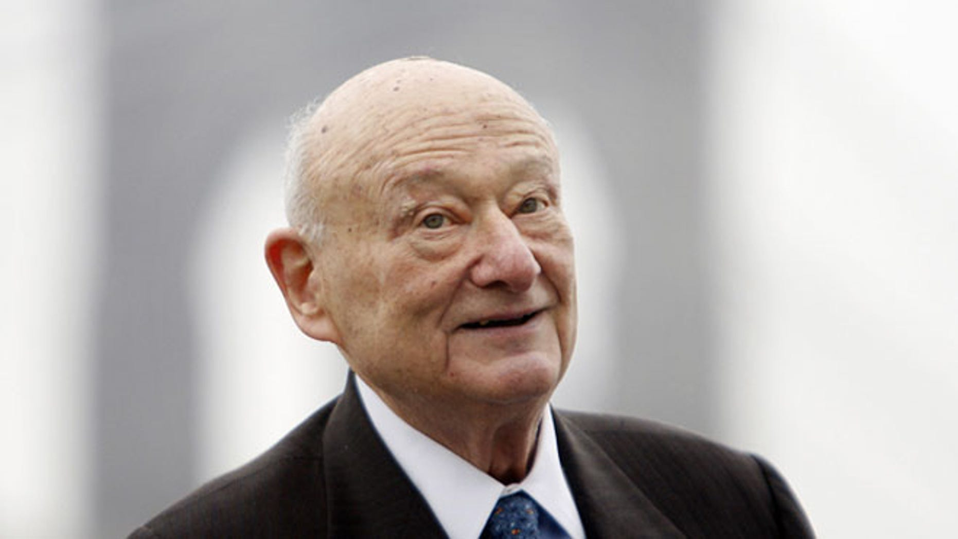 In this March 23, 2010 file photo, former New York Mayor Ed Koch speaks during a publicity event in New York. The FBI has for the first time released materials from its files on the former New York Mayor, who died earlier this year at age 88.