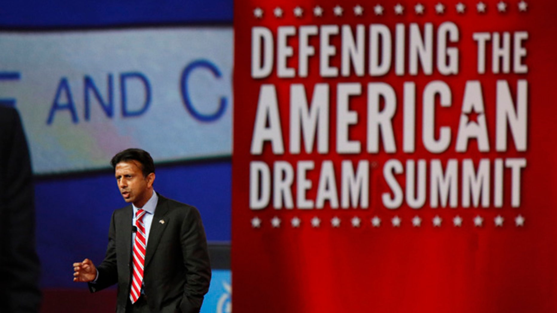 Aug. 21, 2015: GOP presidential candidate Bobby Jindal at Defending the American Dream summit by Americans for Prosperity, Columbus, Ohio.