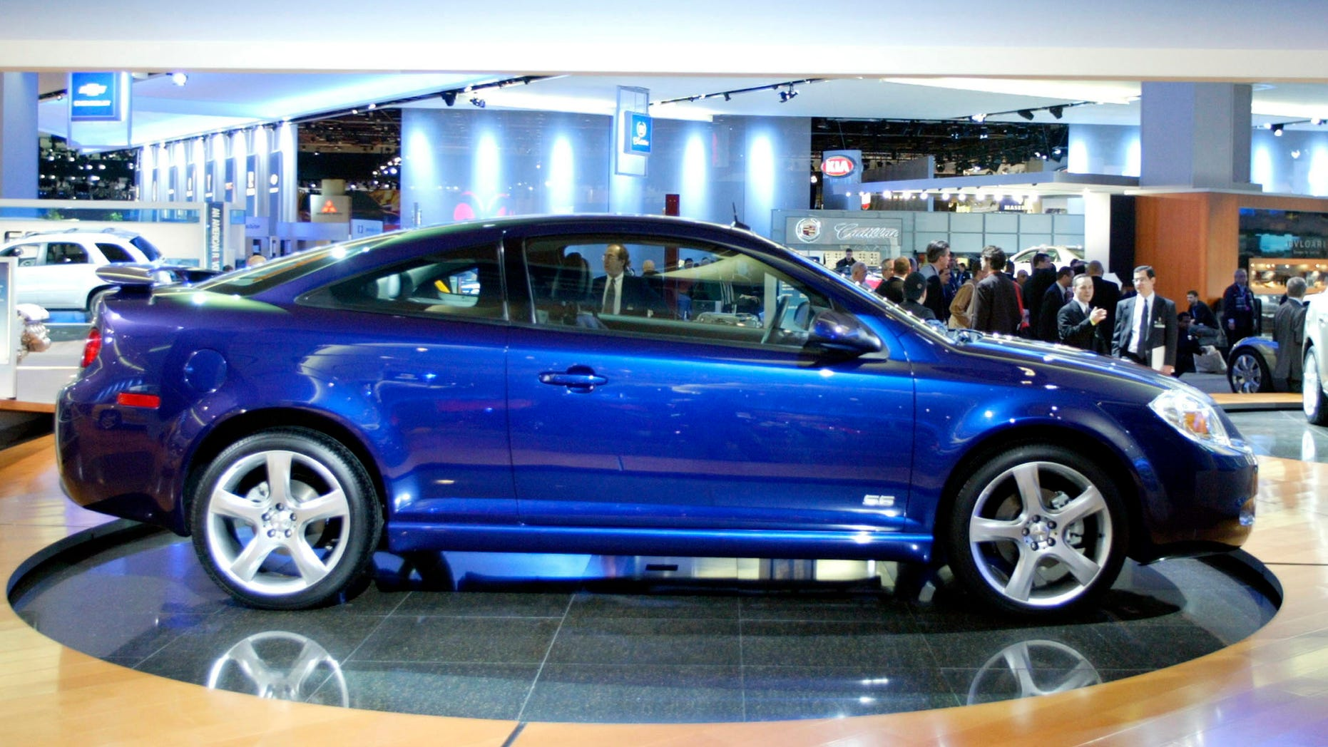 The 2005 Chevrolet Cobalt SS is displayed on the floor of the North American International Auto Show in Detroit Michigan, in this file photograph taken January 5, 2004.
