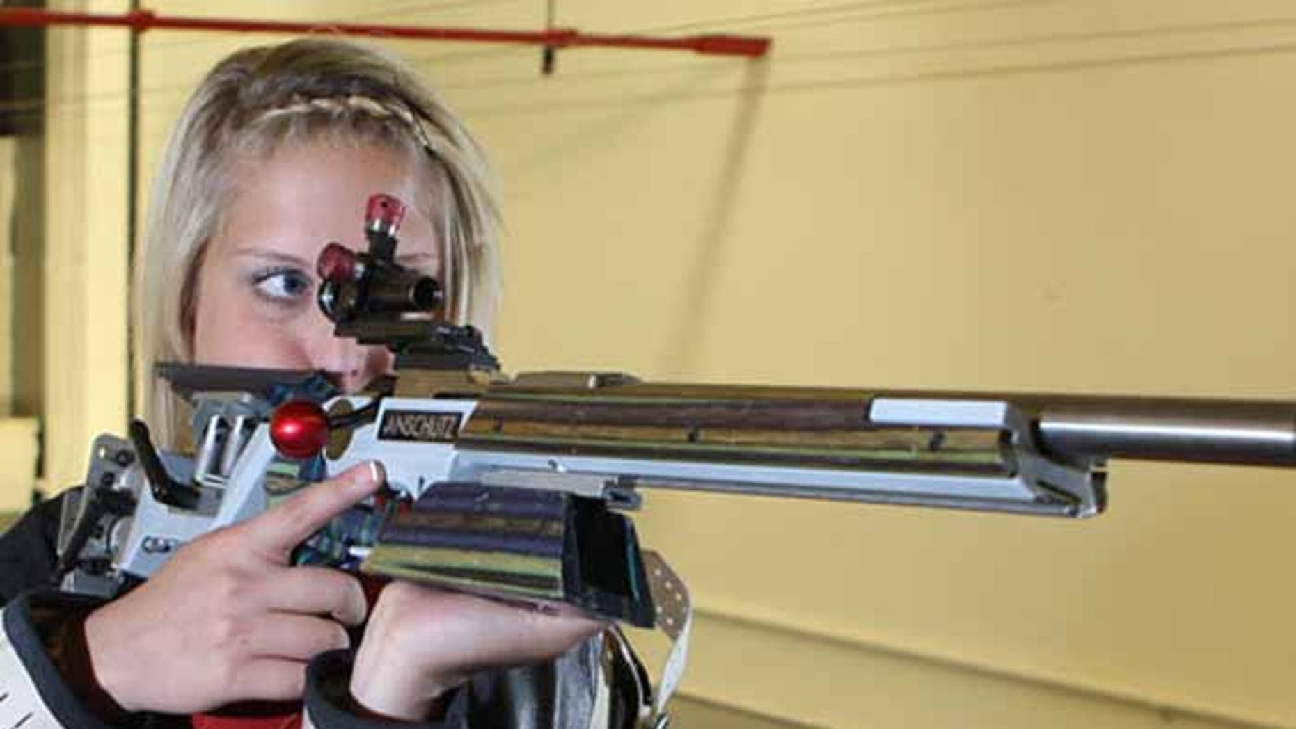 Rifle shooting is an important sport in Nebraska, as former University of Nebraska small-bore shooting star Katie Kostal demonstrates. (University of Nebraska)
