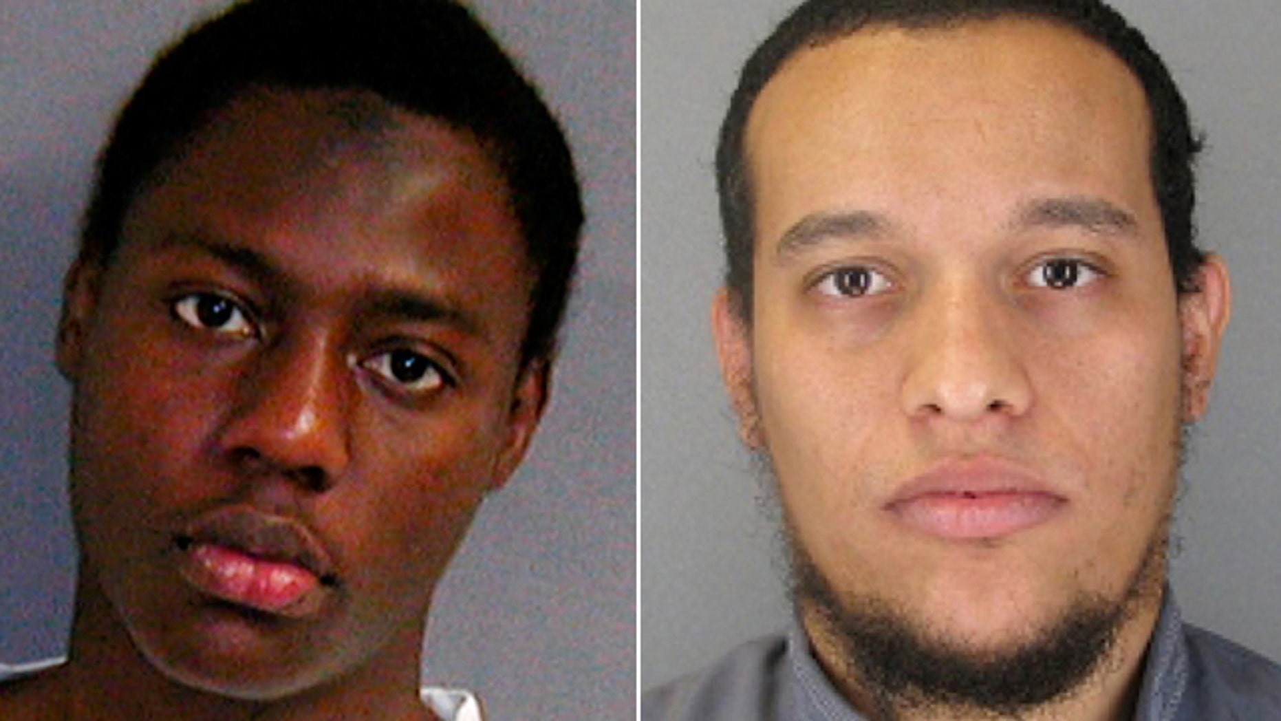 These photos show, at left, the so-called 'underwear bomber' Umar Farouk Abdulmutallab, and, at right, Paris massacre suspect Said Kouachi (Reuters/AP)