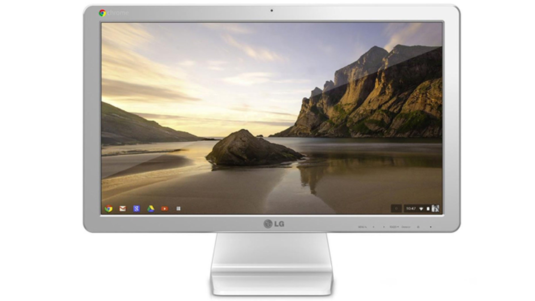 The LG Chromebase, an all-in-one computer running Google's Chrome operating system, rather than the traditional Windows. It's one of an increasing variety of threats to Microsoft's dominance on the desktop.