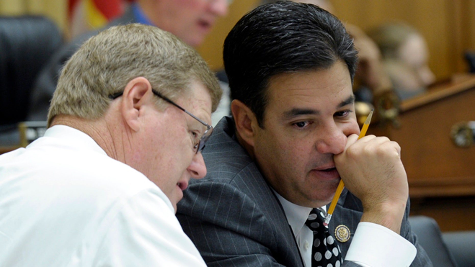 Rep. Raul Labrador, R-Idaho, right, and Rep. Mark Amodei, R-Nev., in a May 22, 2013 file photo.