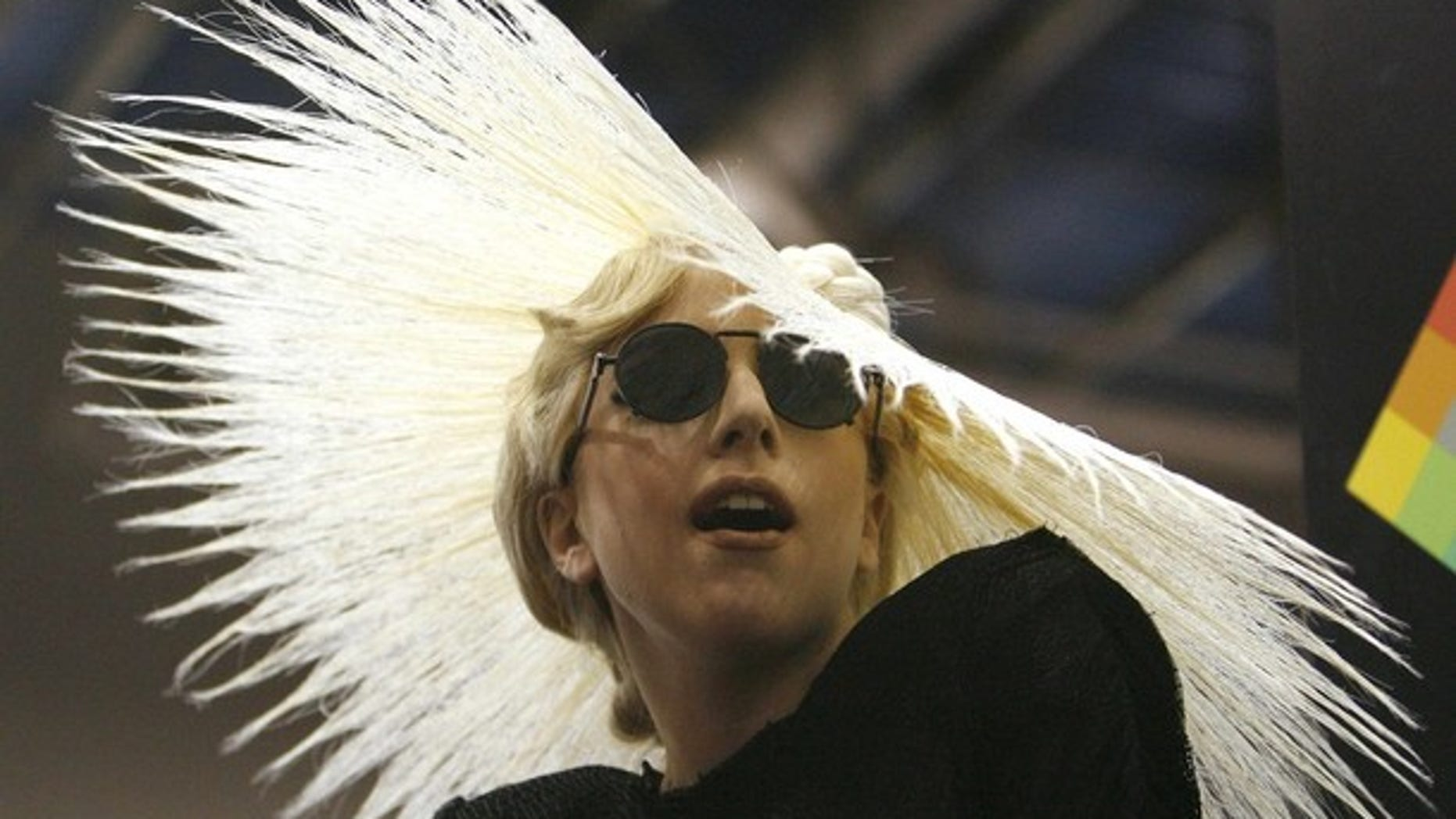 Singer Lady Gaga attends a media event where she was announced as Polaroid creative director at the 2010 International Consumer Electronics Show (CES) in Las Vegas January 7, 2010. The show runs January 7-10.  REUTERS/Mario Anzuoni   (UNITED STATES - Tags: BUSINESS ENTERTAINMENT)