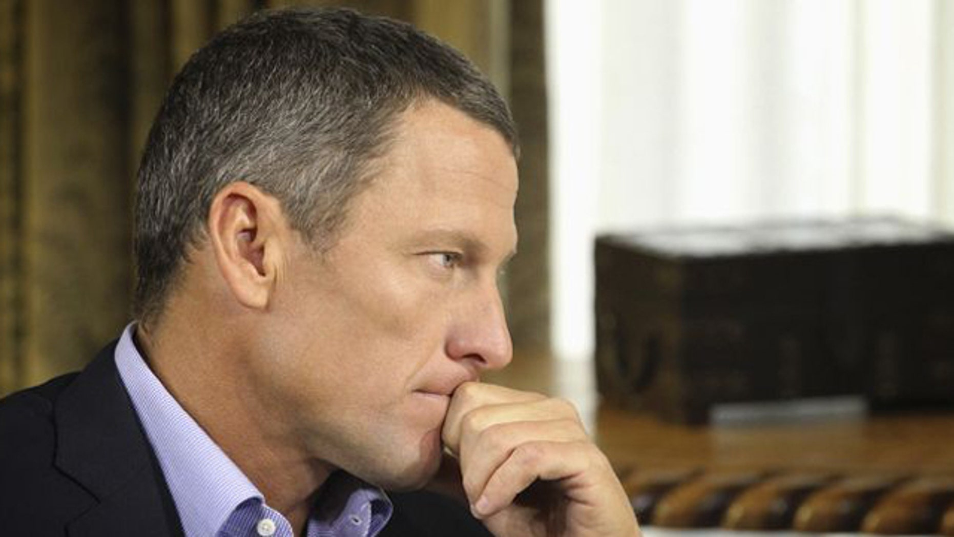 Jan. 14, 2013: Lance Armstrong listens as he is interviewed by talk show host Oprah Winfrey during taping for the show.