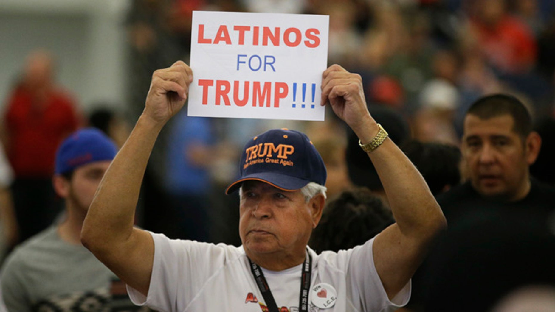 A Trump rally at the Anaheim Convention Center, Wednesday, May 25, 2016, in Anaheim, Calif.